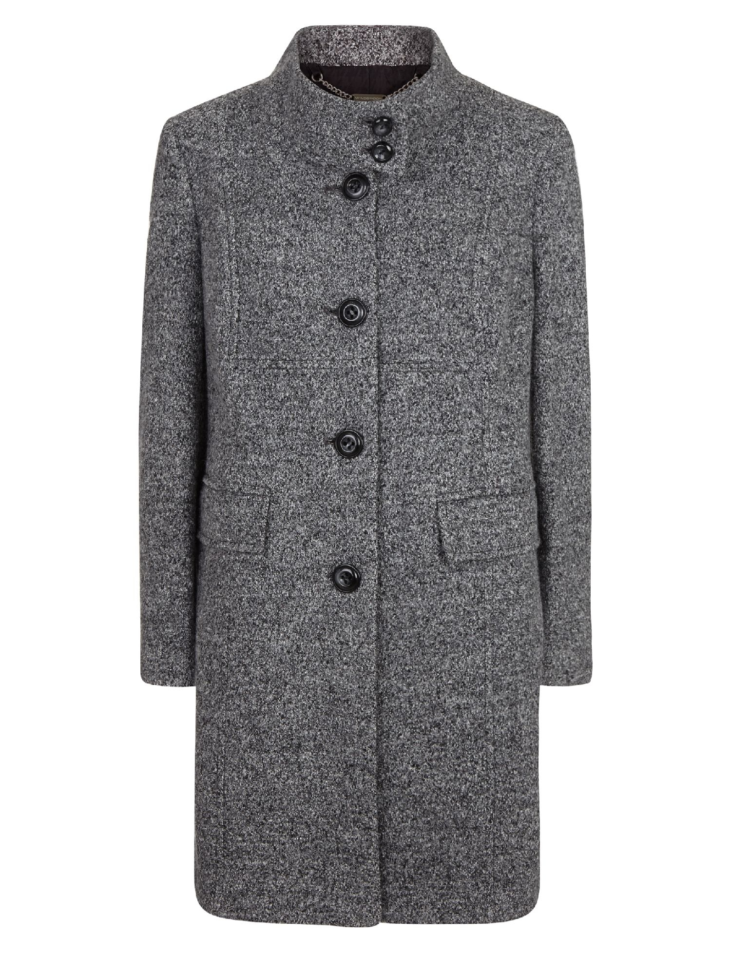 Windsmoor Textured Mid Wool Coat in Gray | Lyst