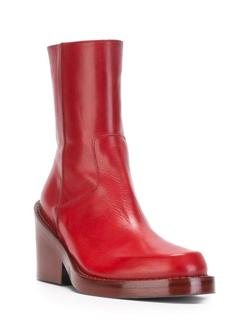 ANN DEMEULEMEESTER Low heel boots w8fzM
