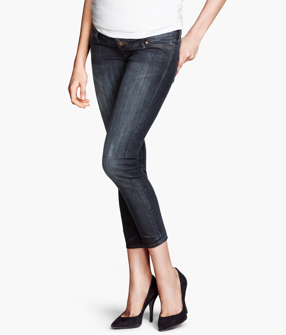 ee4f8e54e5ba3 H&M Mama Skinny Ankle Jeans in Blue - Lyst