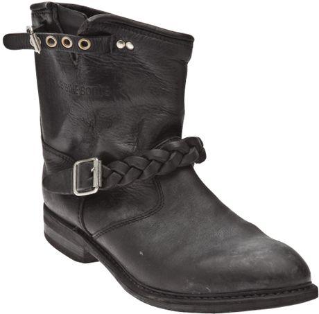 golden goose deluxe brand biker boot in black lyst. Black Bedroom Furniture Sets. Home Design Ideas
