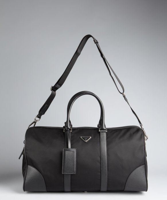 e70f4e426f5d ... aliexpress lyst prada nylon zip duffle bag in black for men 3f0d3 f566d