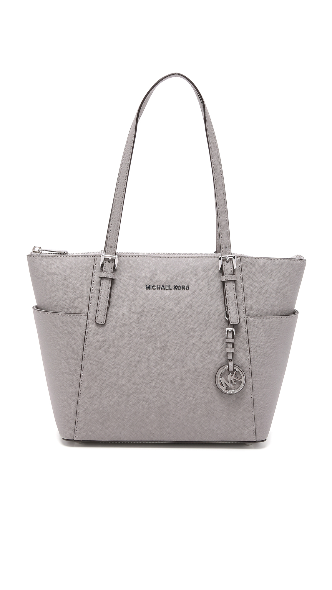 70866ea87775 MICHAEL Michael Kors Jet Set Top Zip Tote - Ballet in White - Lyst