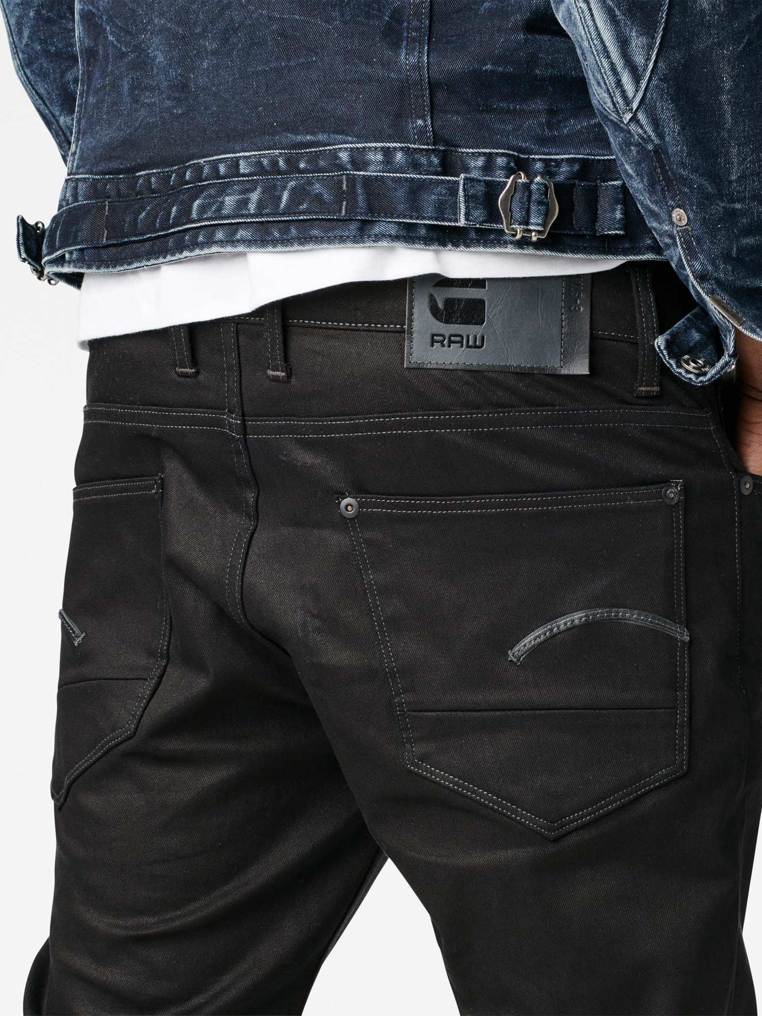 b2347e7c902 G-Star RAW Revend Straight Jeans in Black for Men - Lyst