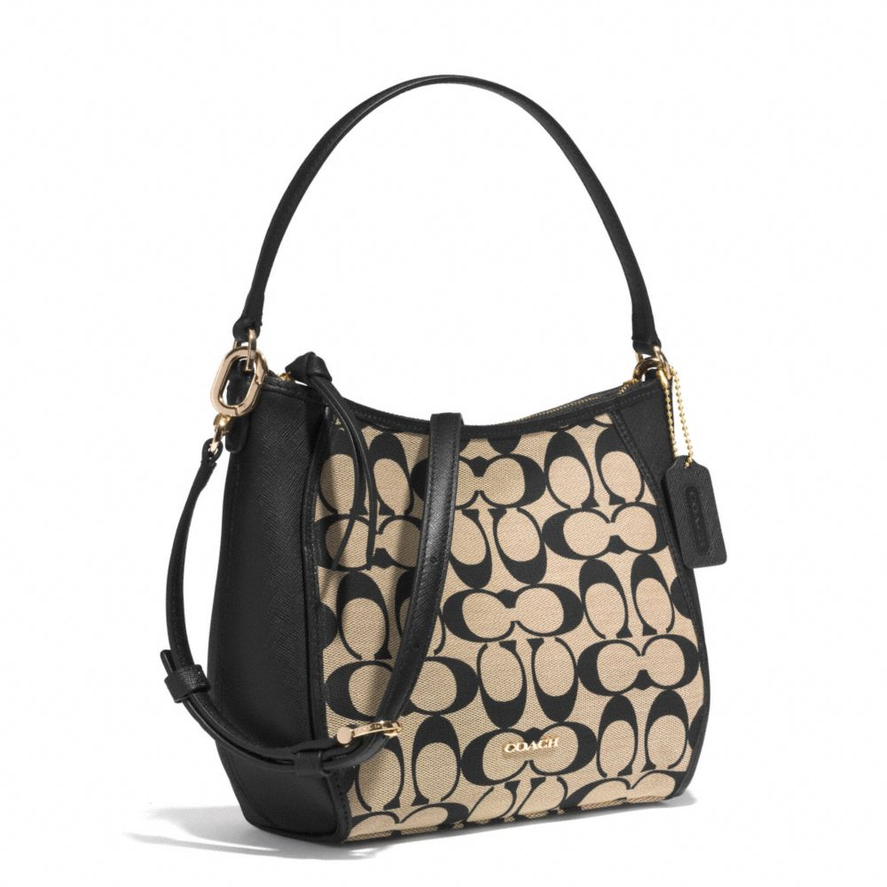 2c71a75038 Lyst - COACH Legacy Top Handle Bag in Printed Signature Fabric in Black