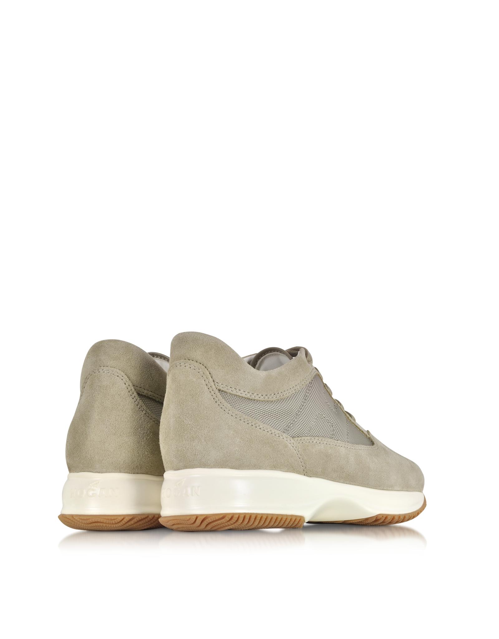1da9e79e972 Hogan Interactive Beige Suede Sneaker in Gray for Men - Lyst