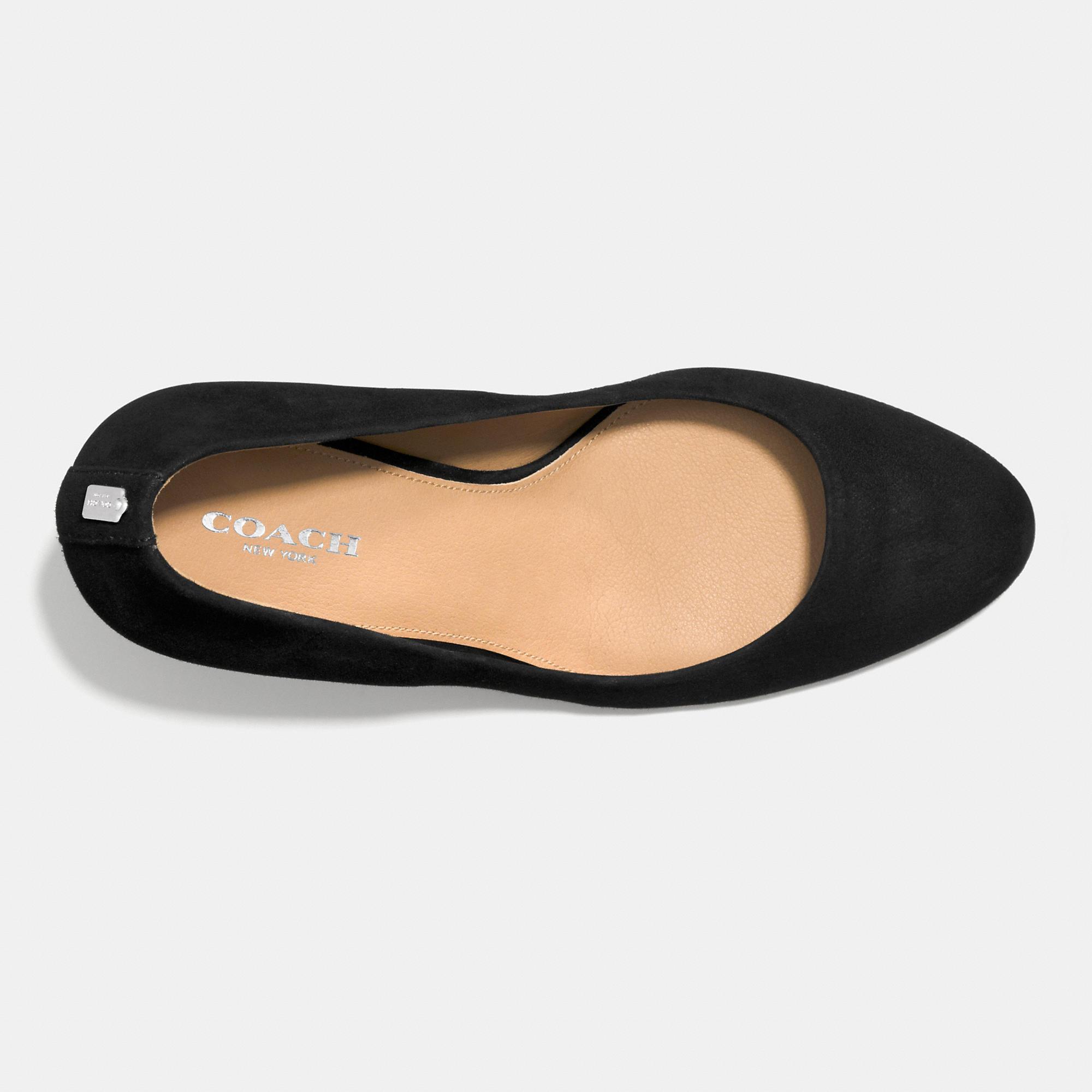 f19a3afc0d4 Lyst - COACH Rosey Heel in Black