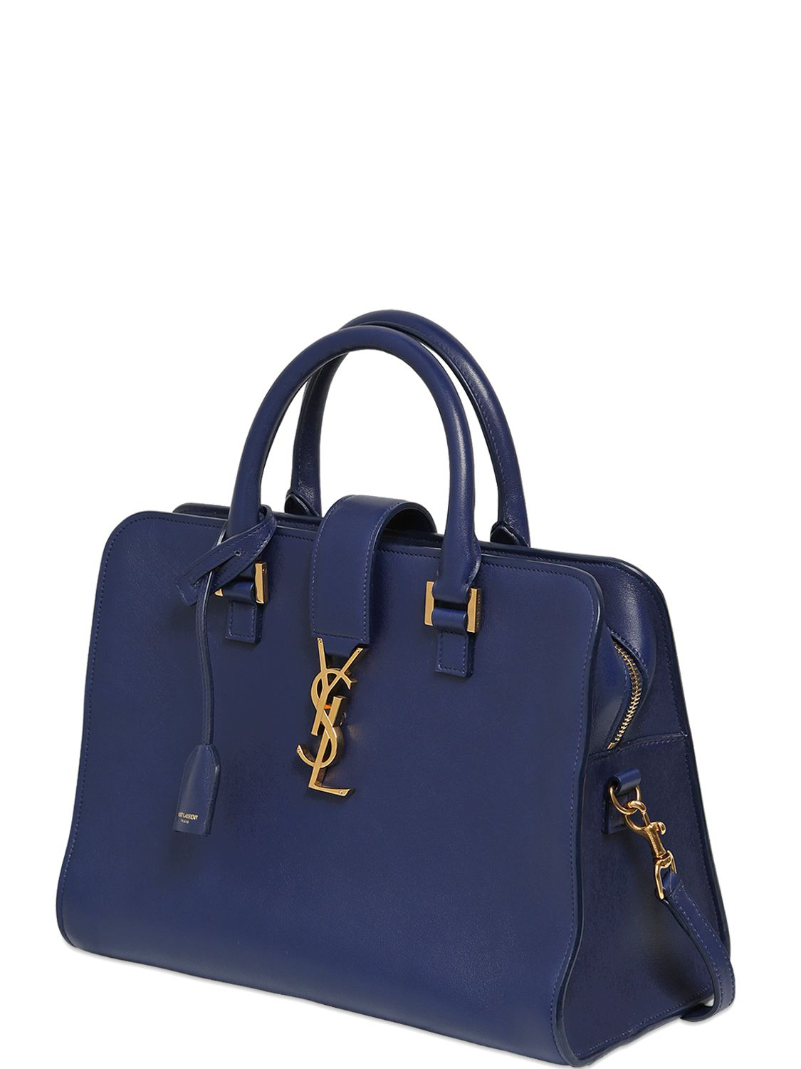 e9d5a74ee62d Lyst - Saint Laurent Baby Cabas Monogram Bag in Blue