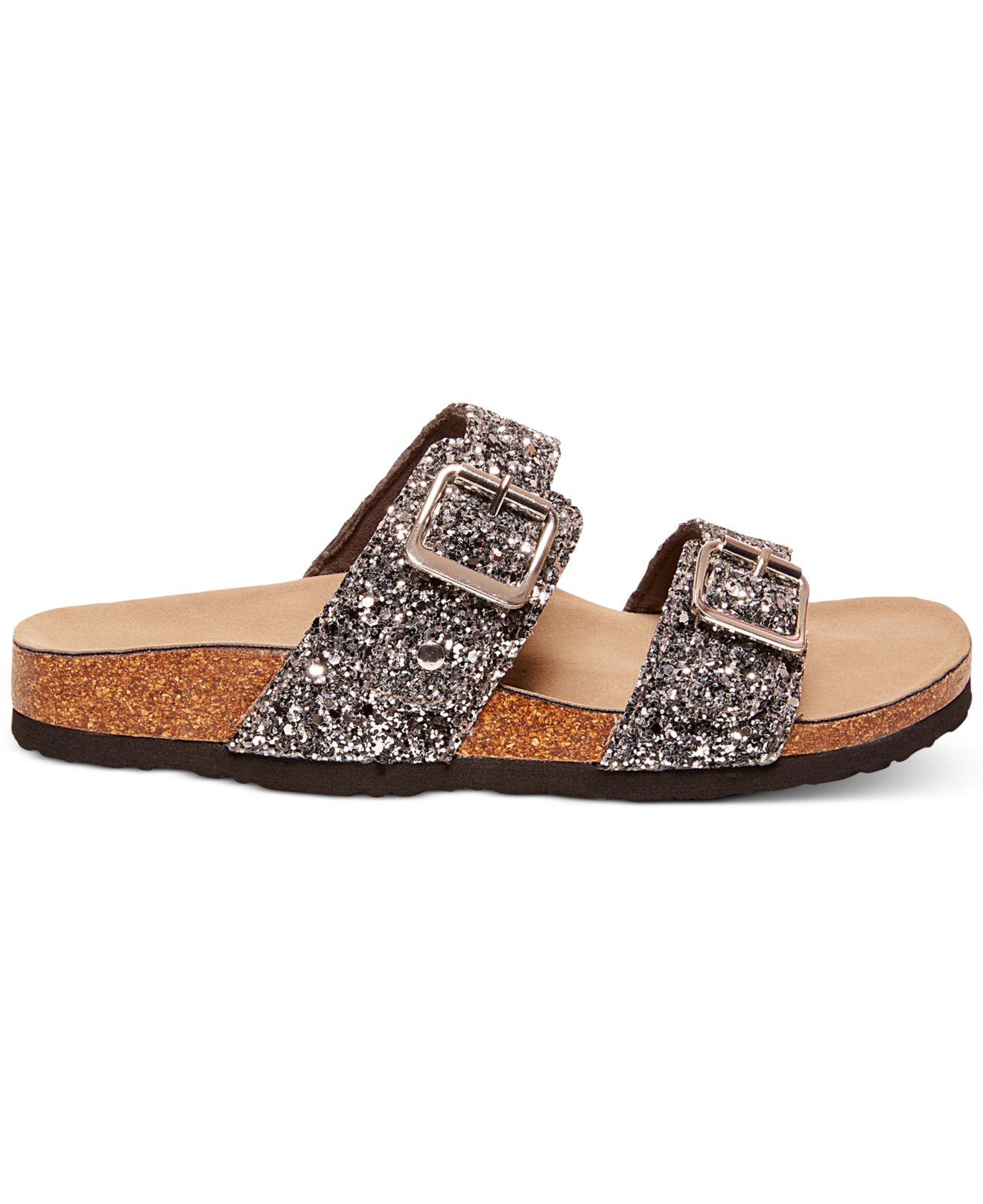 Lyst Madden Girl Brando Glitter Faux Leather Sandals In