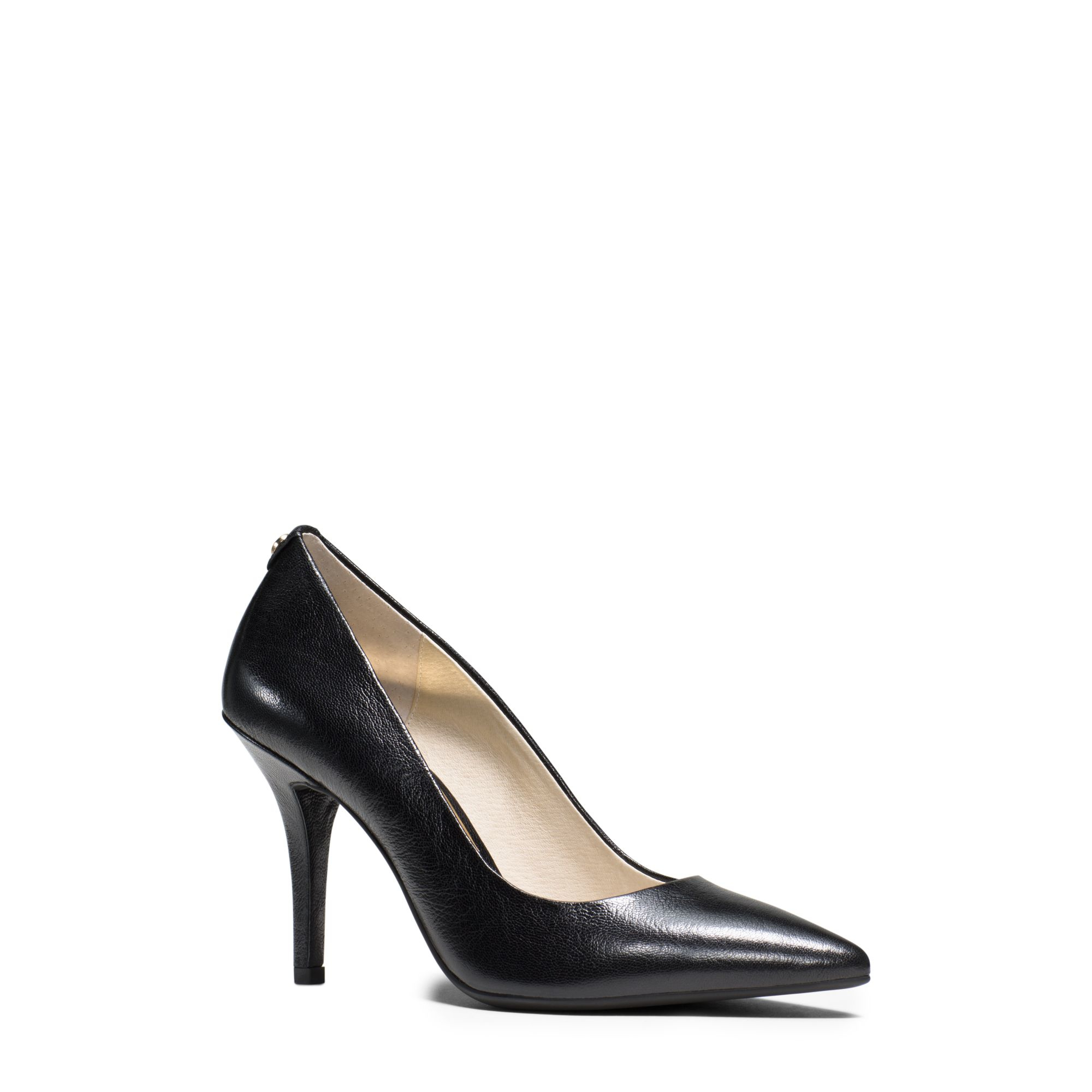 michael kors flex leather high heel pump in black lyst. Black Bedroom Furniture Sets. Home Design Ideas