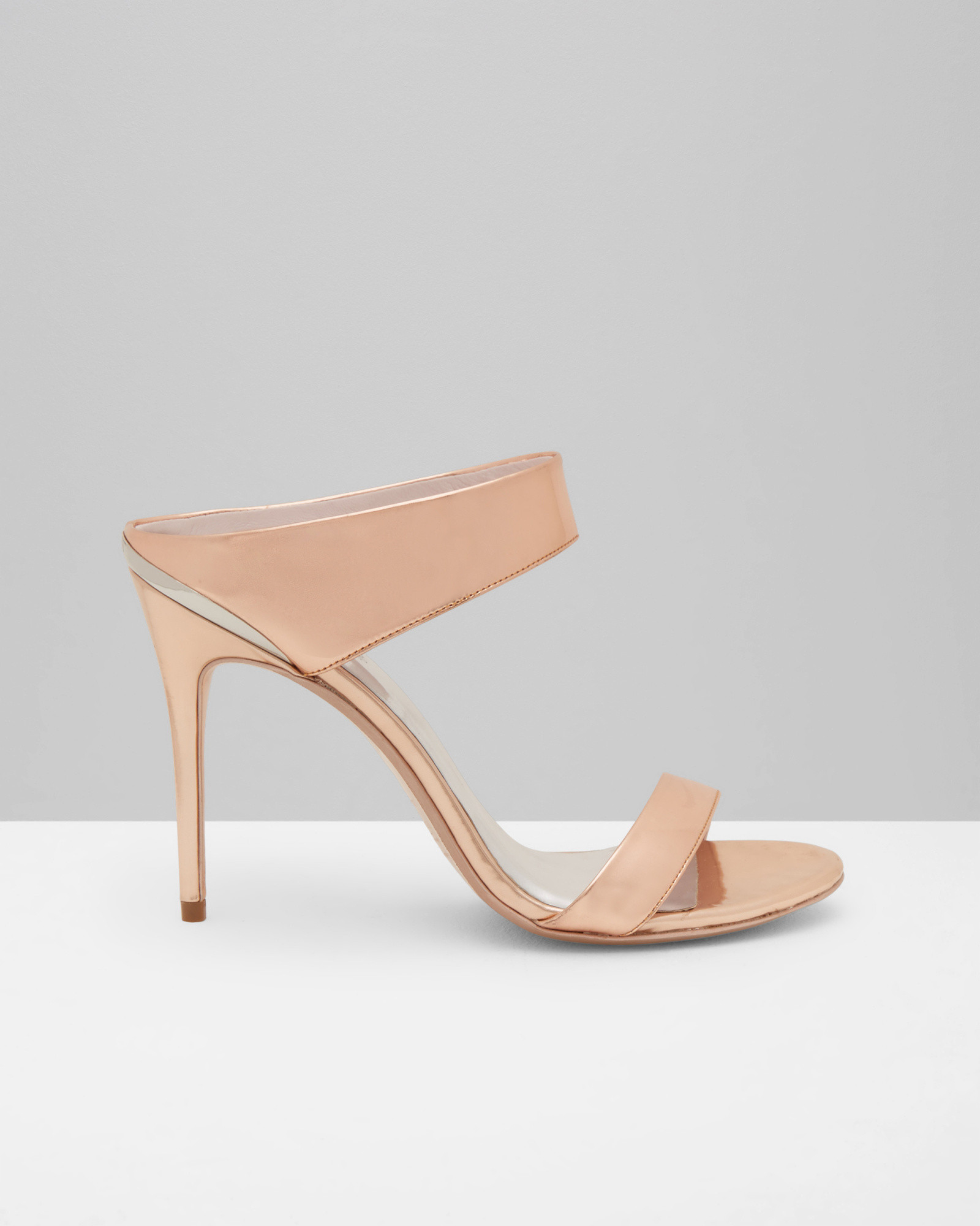 3038a0e1fc18 Lyst - Ted Baker Metallic Mule Sandals in Pink