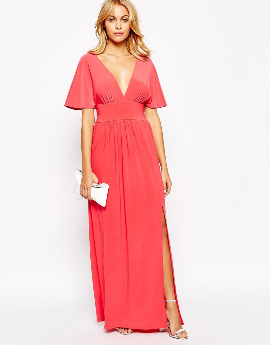 Kimono Sleeve Maxi Dress