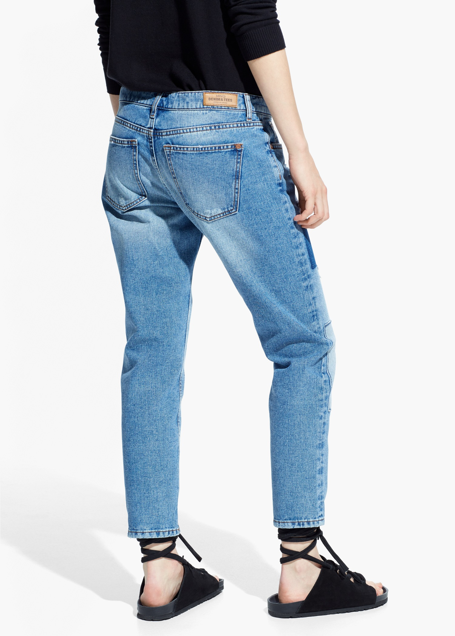 Lyst - Mango Slim-Fit Nancy Jeans in Blue 0d83a75a9