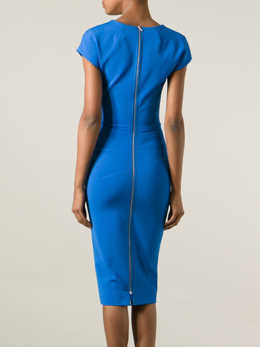melange fitted dress - Blue Victoria Beckham P96a016fga