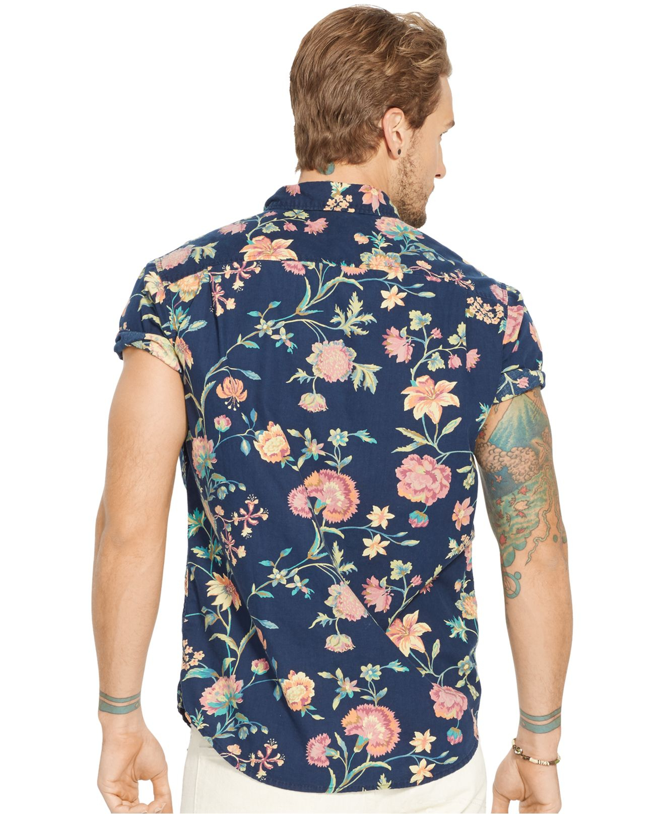 128455c6c0 Lyst - Denim   Supply Ralph Lauren Floral Poplin Sport Shirt for Men