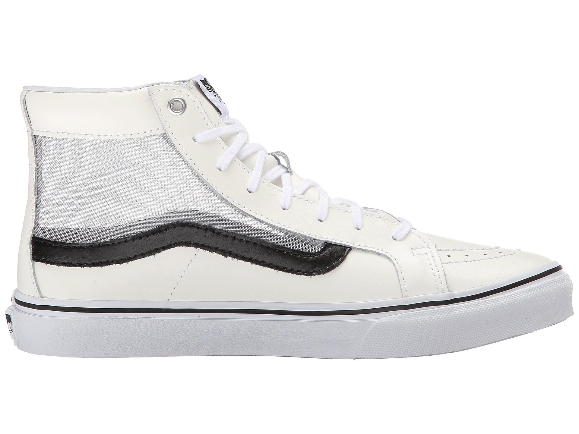 535363642dd0 Lyst - Vans Sk8-hi™ Slim Cutout in White