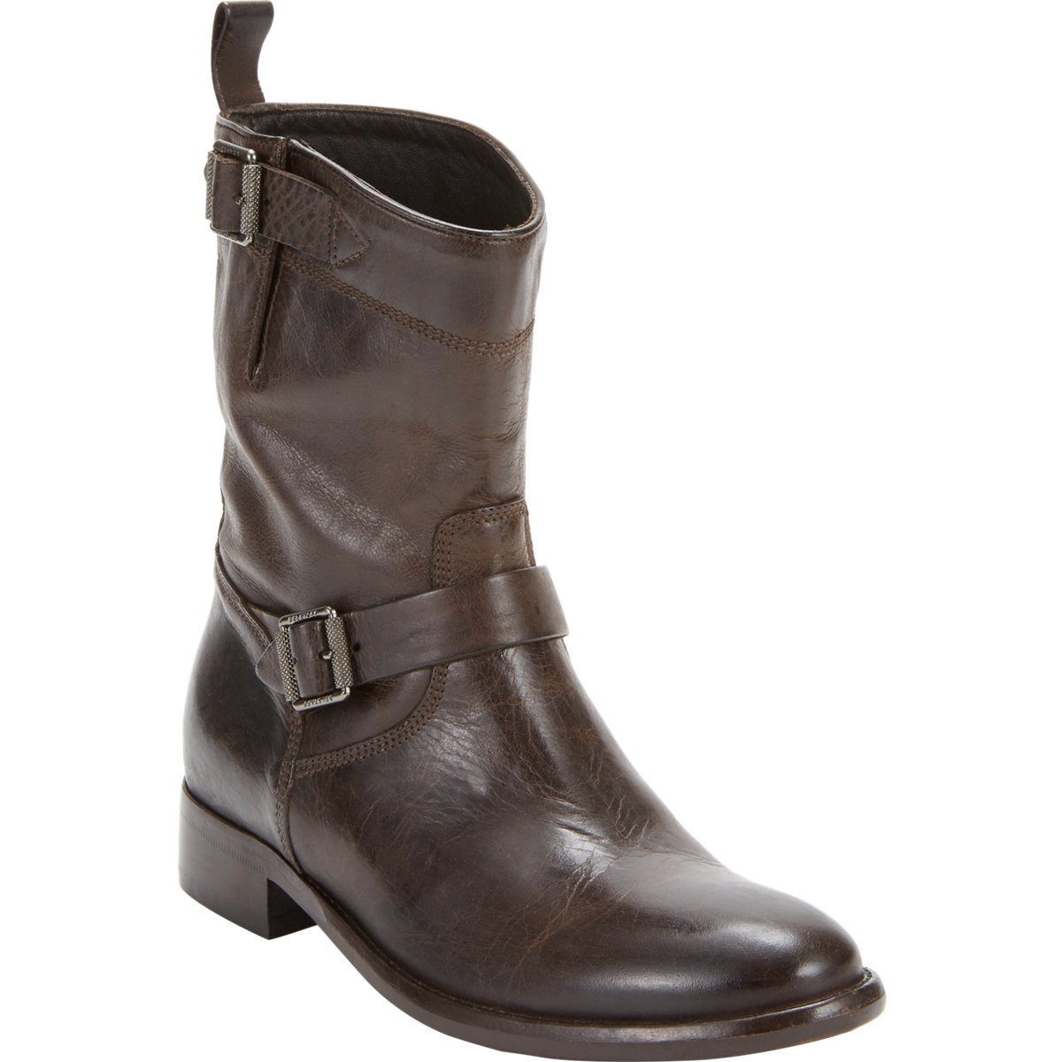 belstaff bedford motorcycle ankle boots in brown lyst