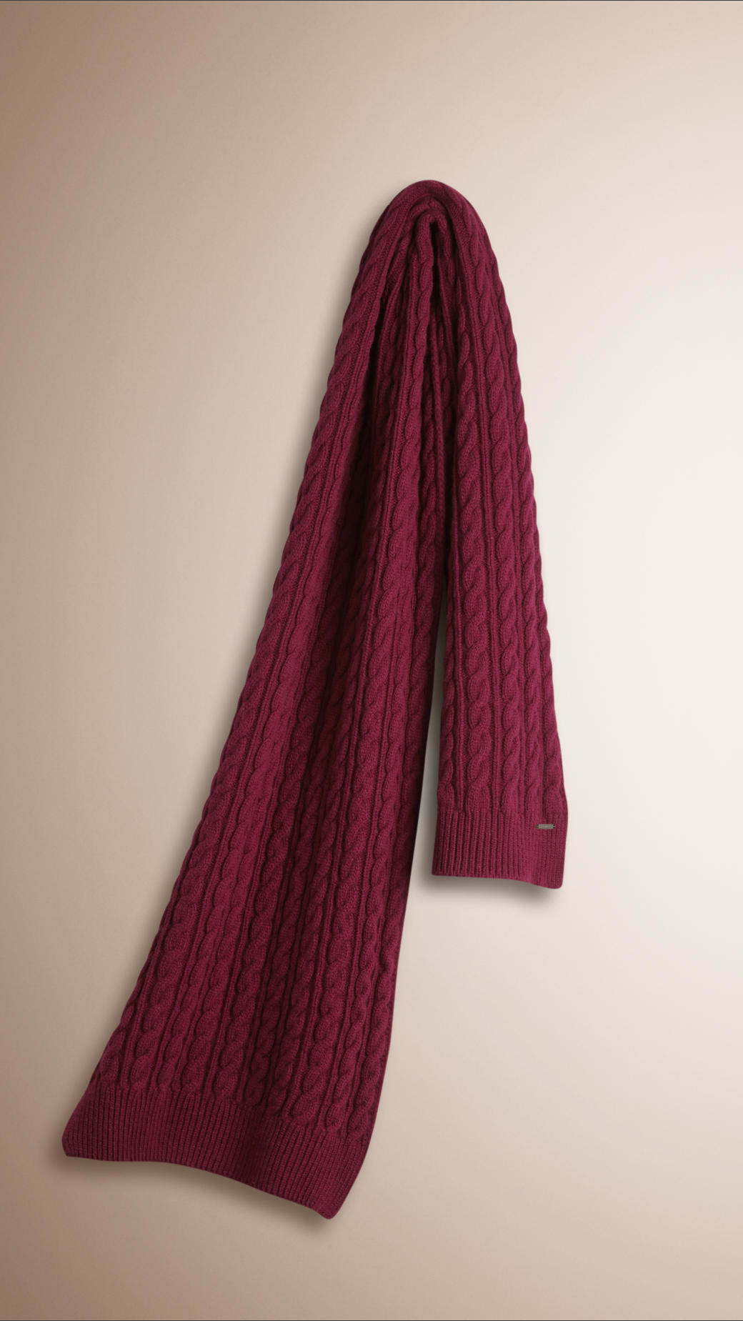 Knitting Pattern Burberry Scarf : Burberry Wool Cashmere Cable Knit Scarf Damson Red in Red for Men Lyst