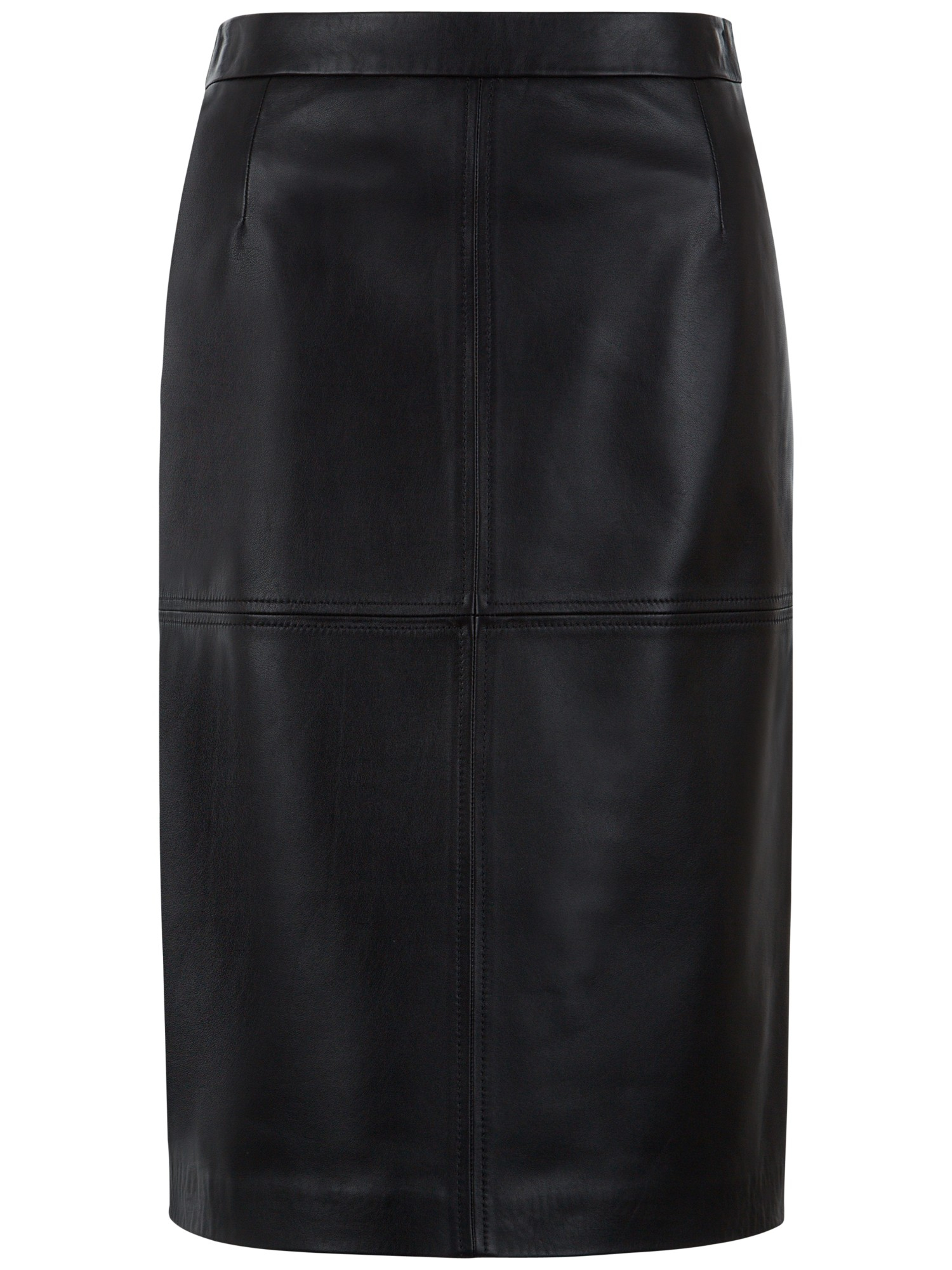 jaeger leather pencil skirt in black lyst