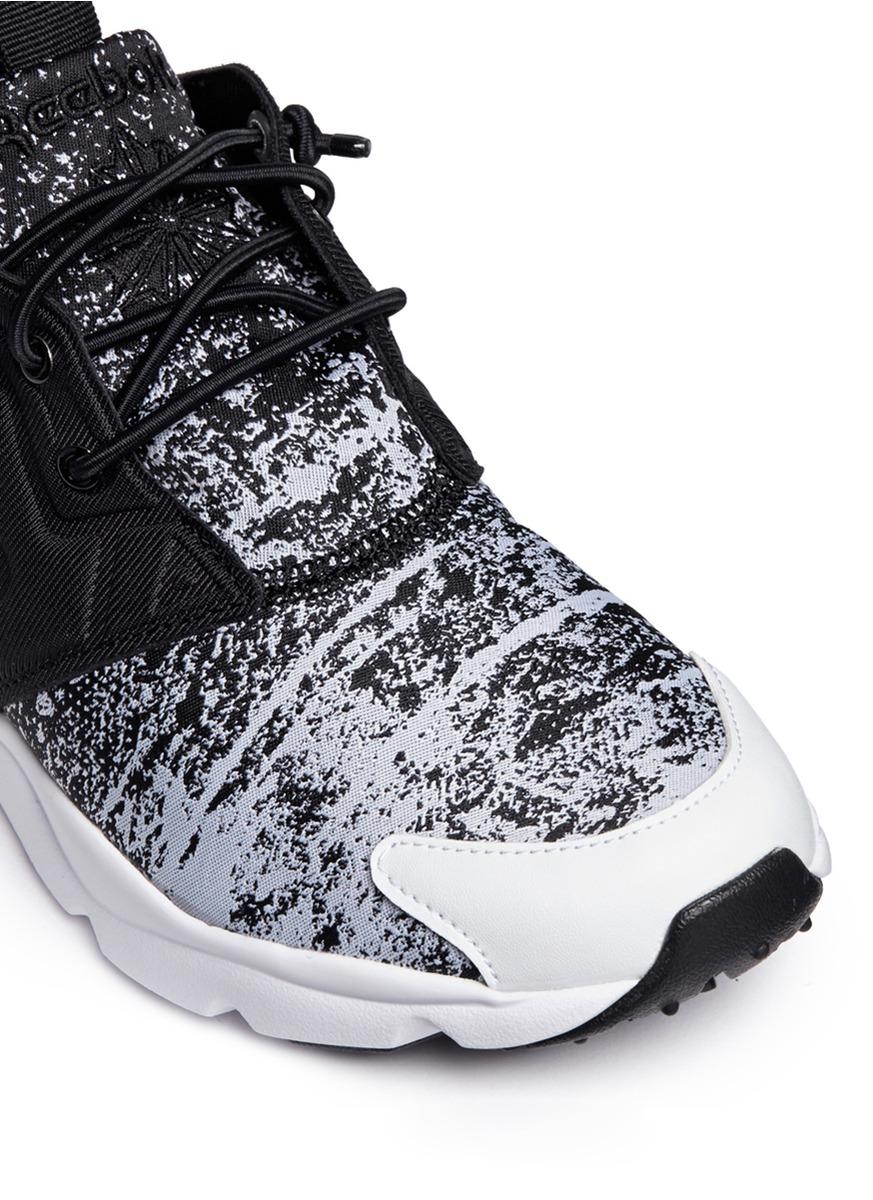 b00d85359571 Lyst - Reebok  furylite Jf  Fade Jacquard Sneakers in White