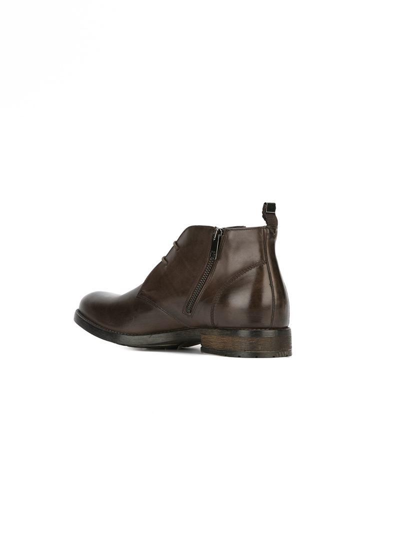 diesel d deshort boots in brown for lyst