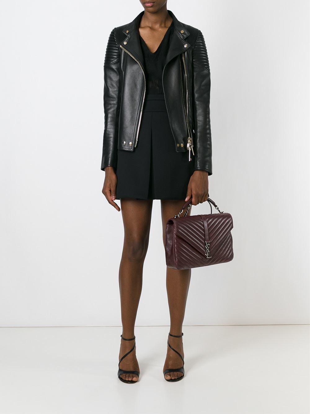 Yves Saint Laurent Large Monogram Matelasse Leather