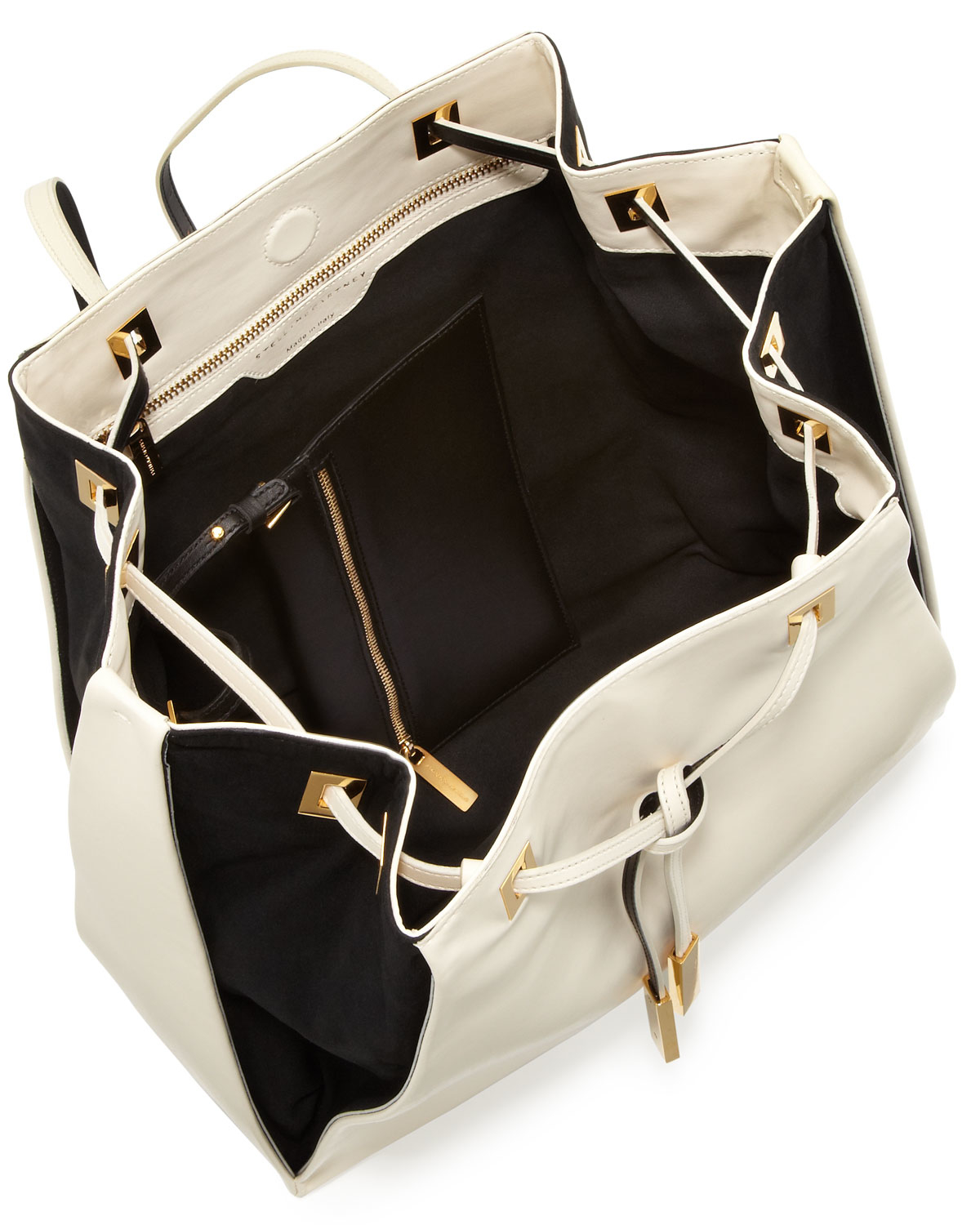 stella mccartney bicolor faux leather rucksack in white lyst. Black Bedroom Furniture Sets. Home Design Ideas