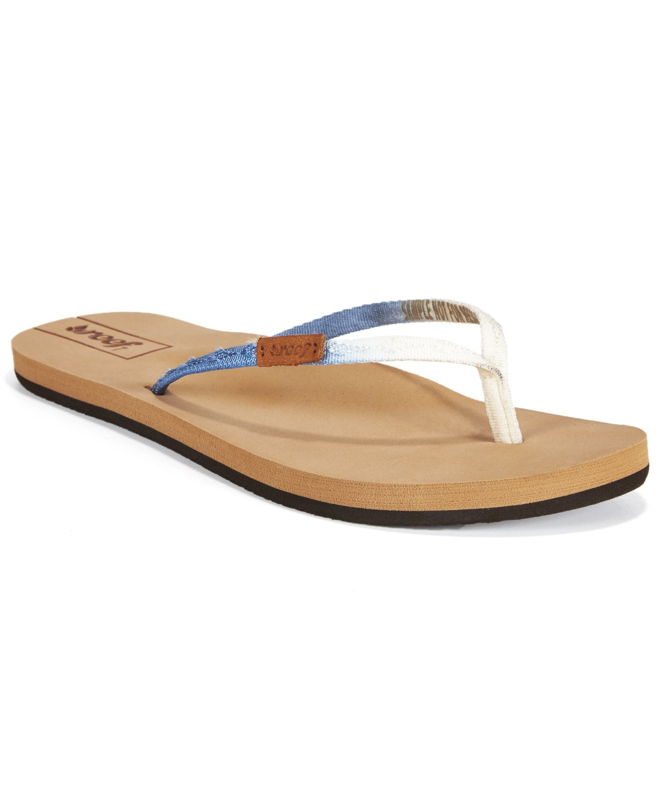 040250a63ba9 Lyst - Reef Slim Ginger Ombre Thong Flip Flops in Blue