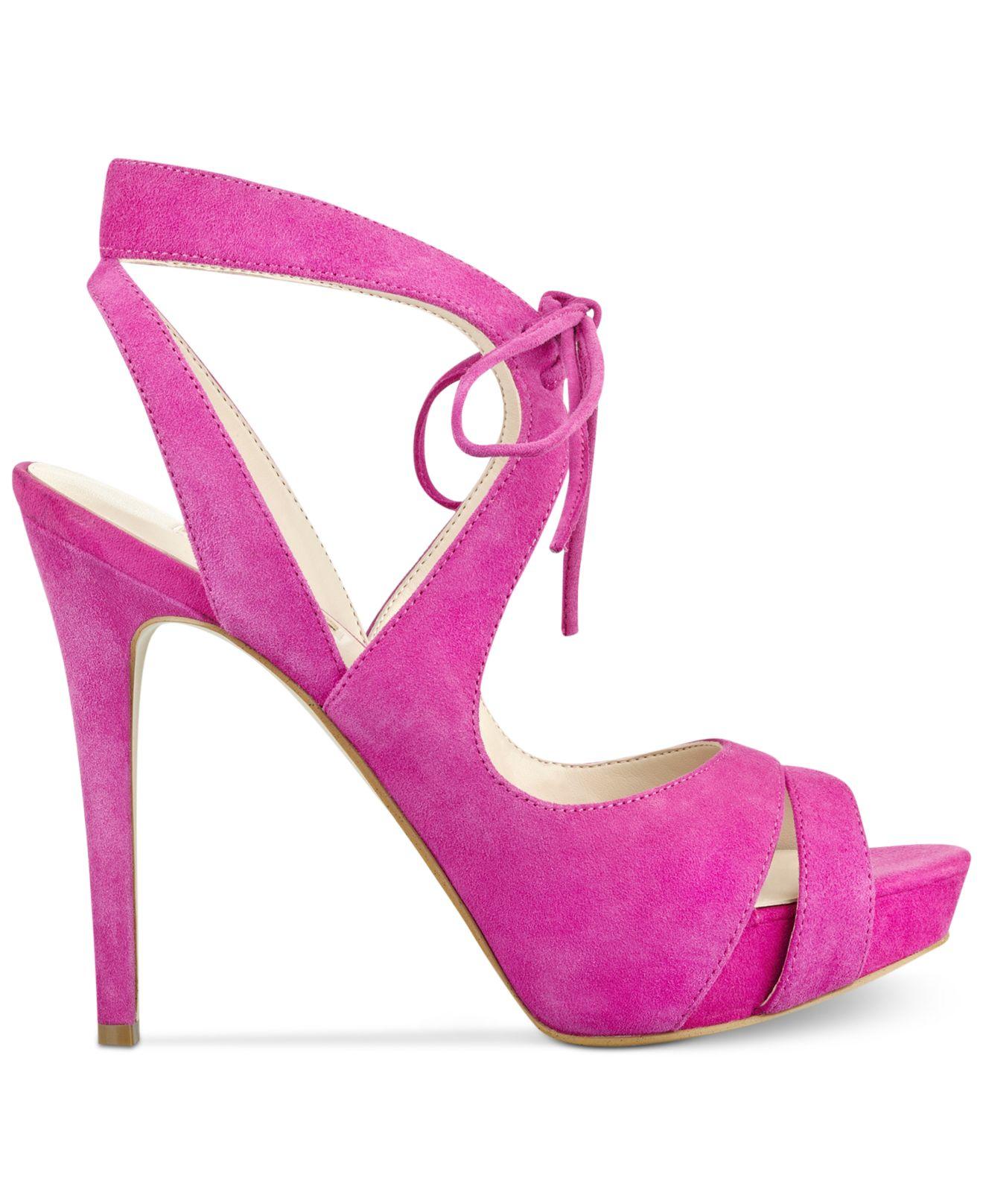 Womens Footwear Dress Sandal Ankle Strap Heels, Pink Guess