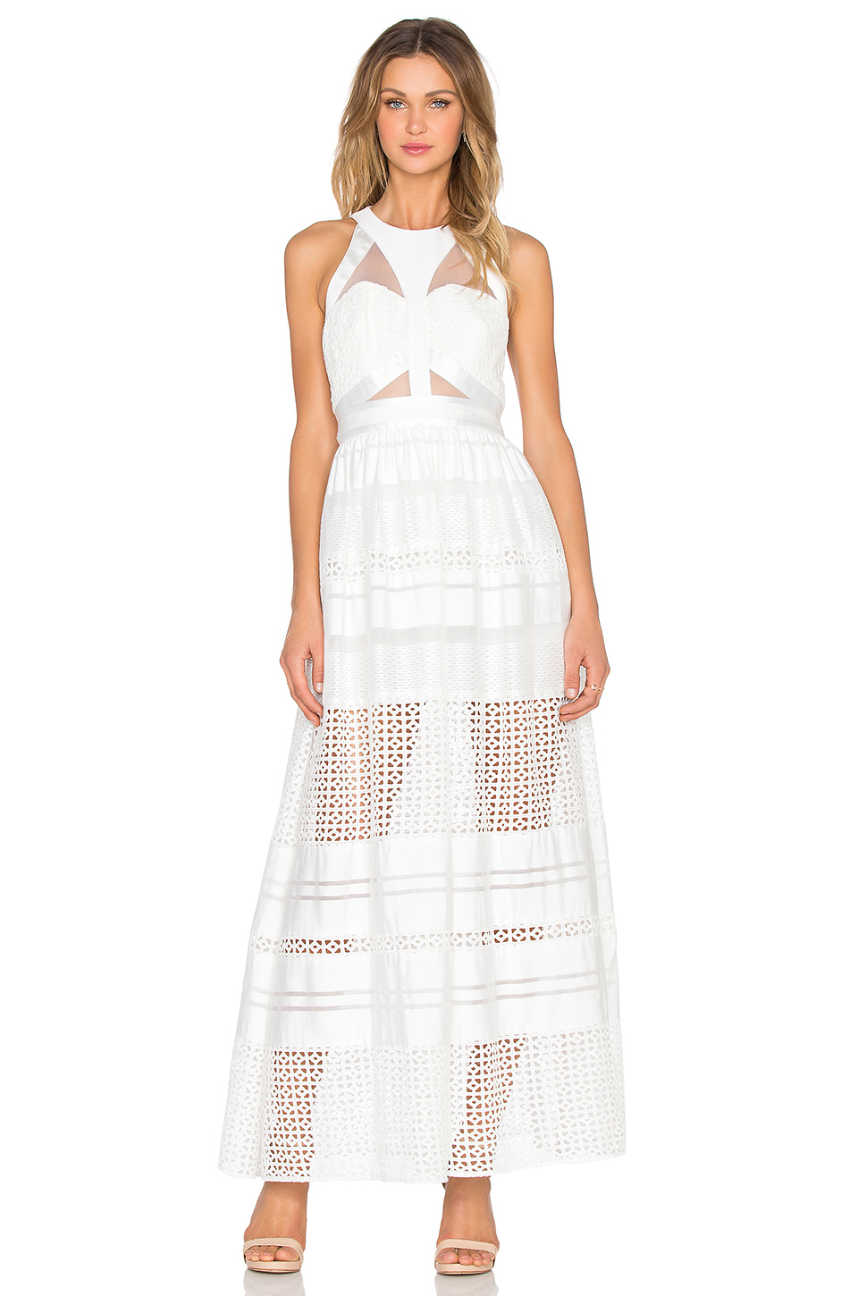 Three floor zittel maxi dress in white lyst for Three floor yellow dress