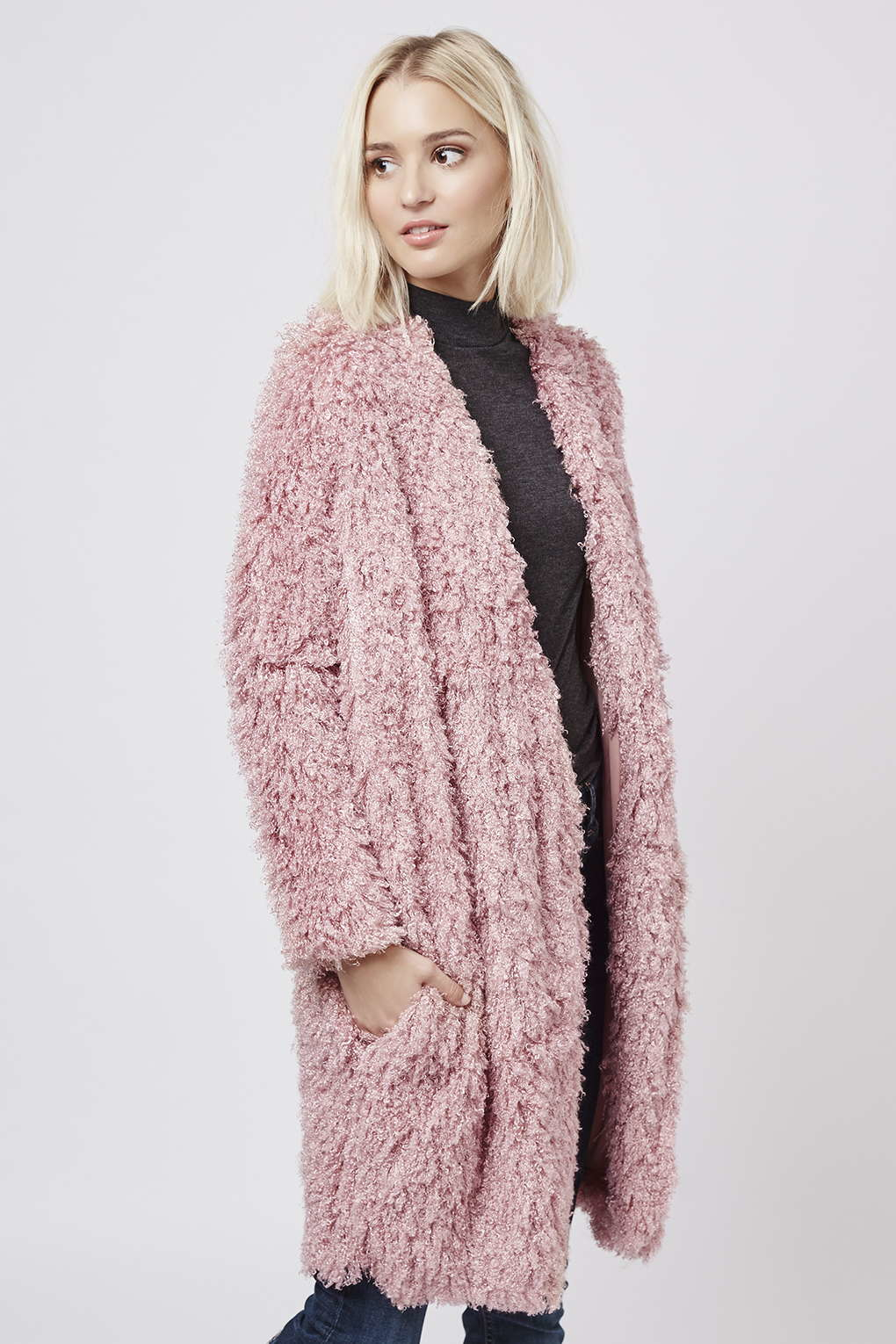 Pink Topshop Coat | Fashion Women's Coat 2017