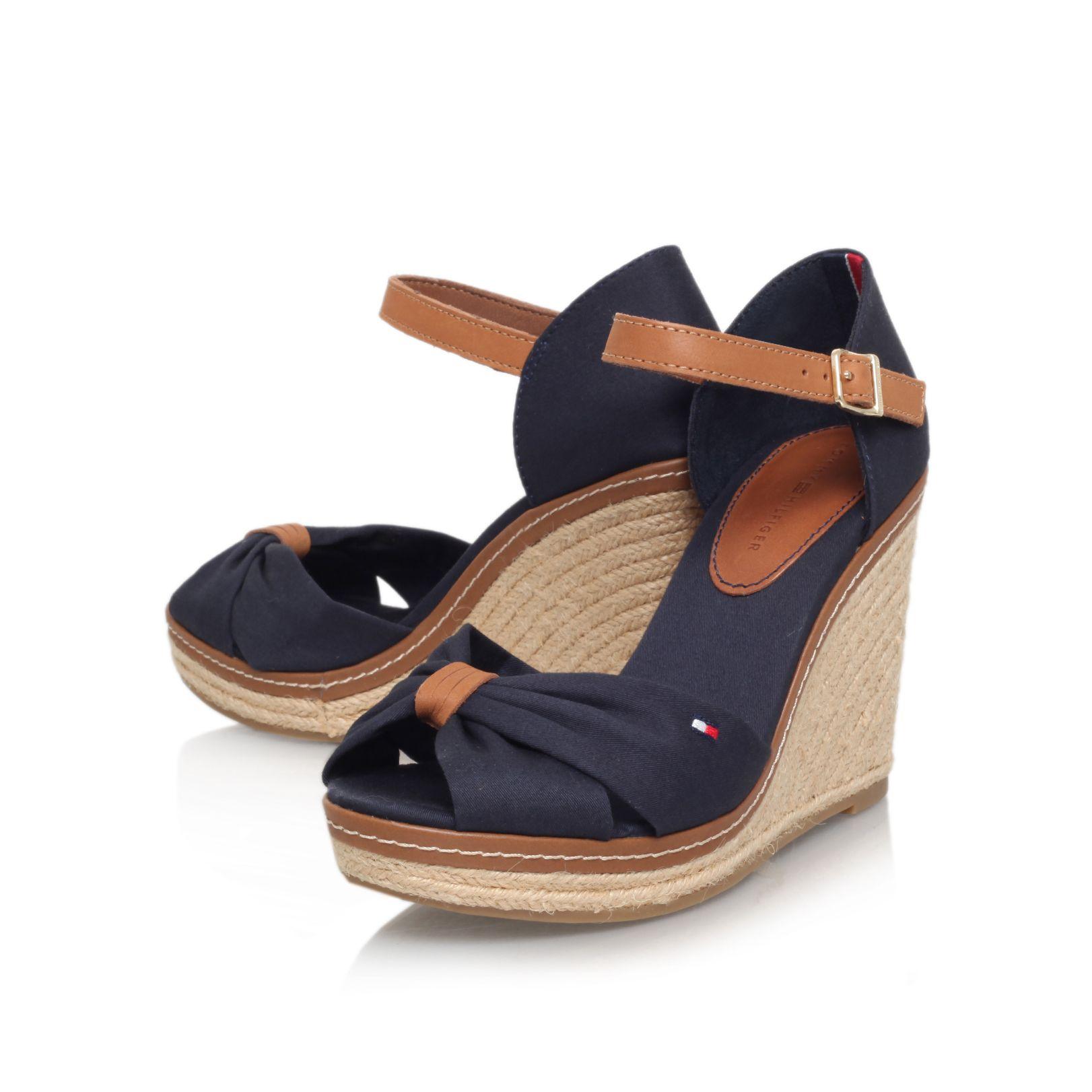 Tommy Hilfiger Platform sandals - dark blue ARLkiE
