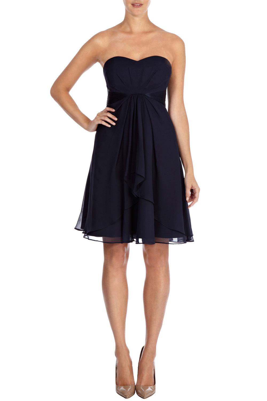 Coast Michegan Short Dress Petite in Blue (Blues)