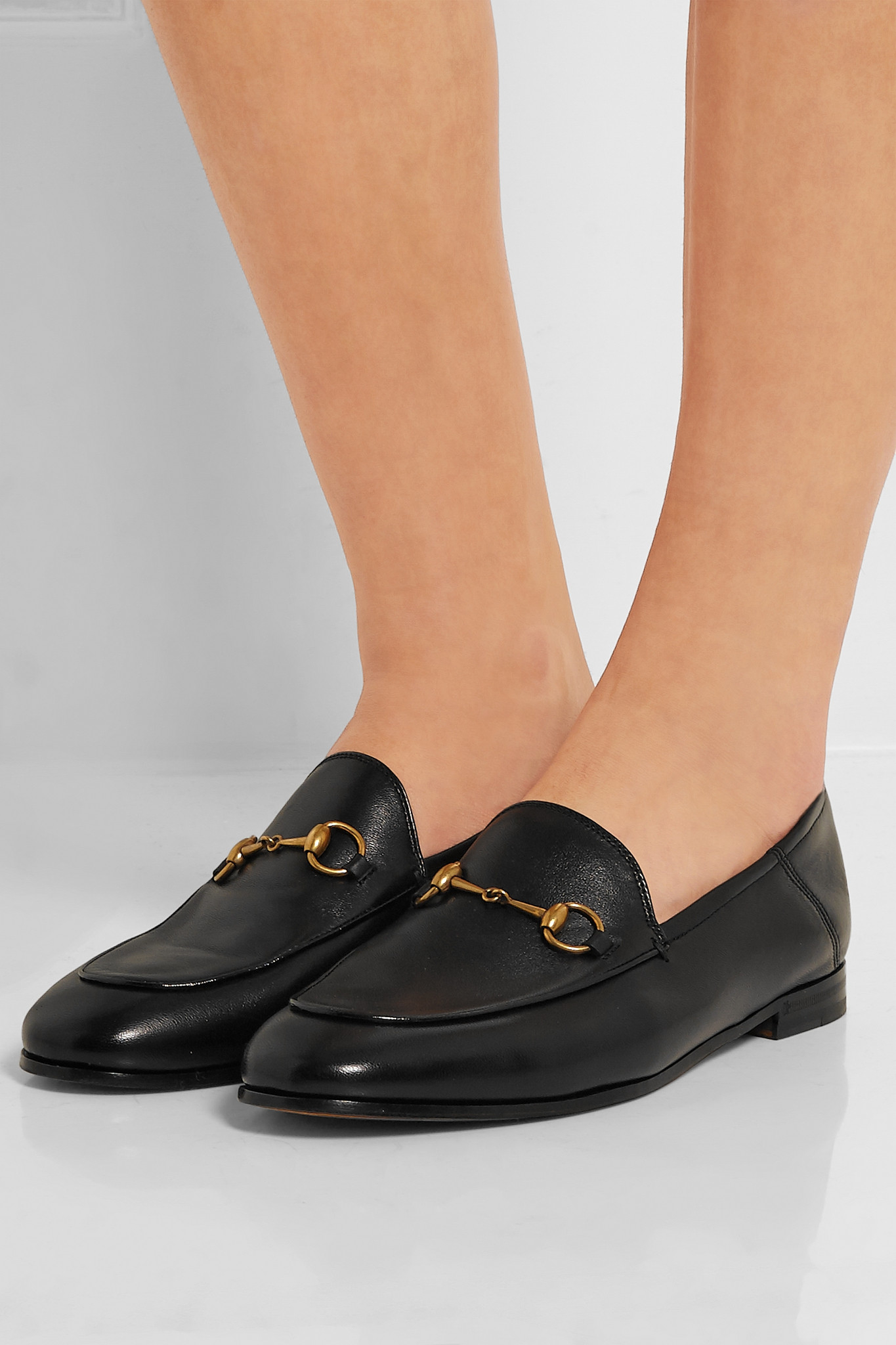 ced100264 Lyst - Gucci Horsebit-detailed Leather Loafers in Black