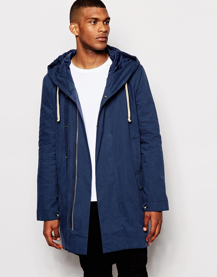 Asos Fishtail Parka In Navy in Blue for Men | Lyst