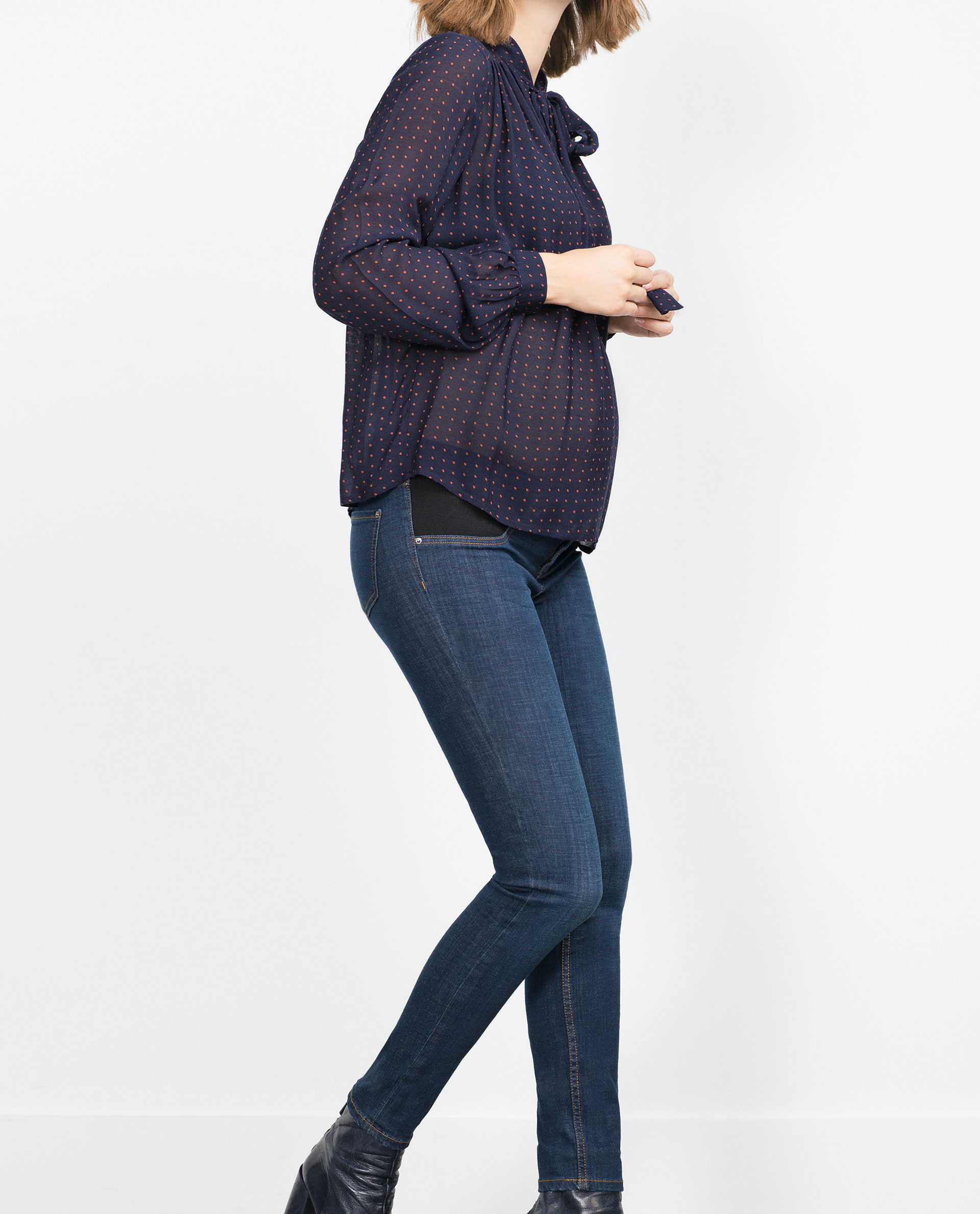 Zara Maternity Jeans in Blue | Lyst