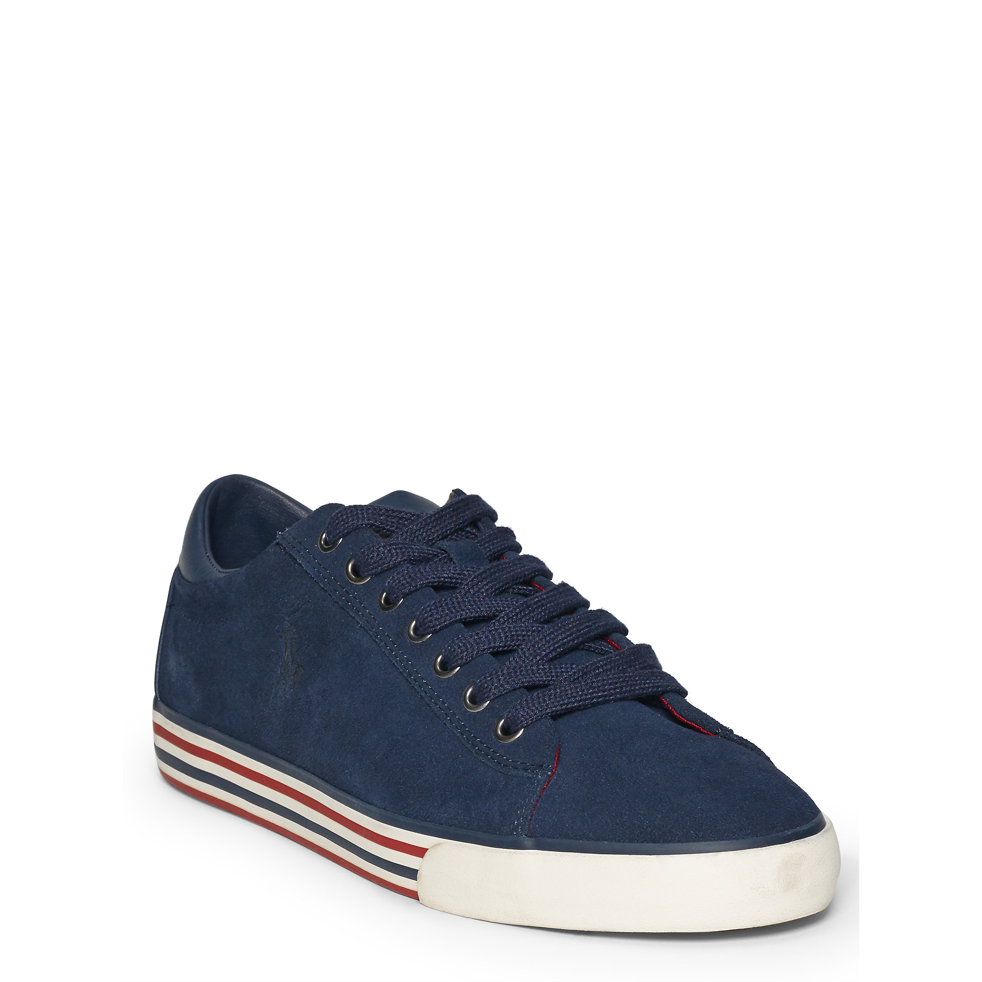 polo ralph lauren harvey suede sneaker in blue for men newport navy. Black Bedroom Furniture Sets. Home Design Ideas