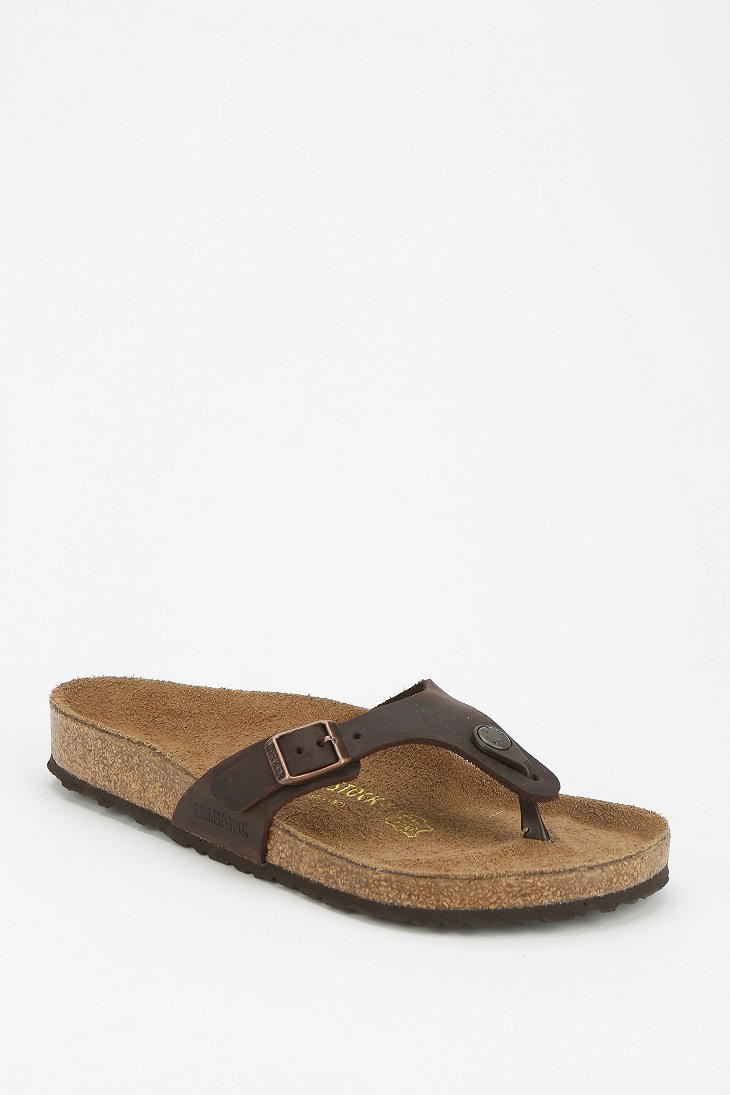 Birkenstock Turin Thong Sandal In Brown Chocolate Lyst