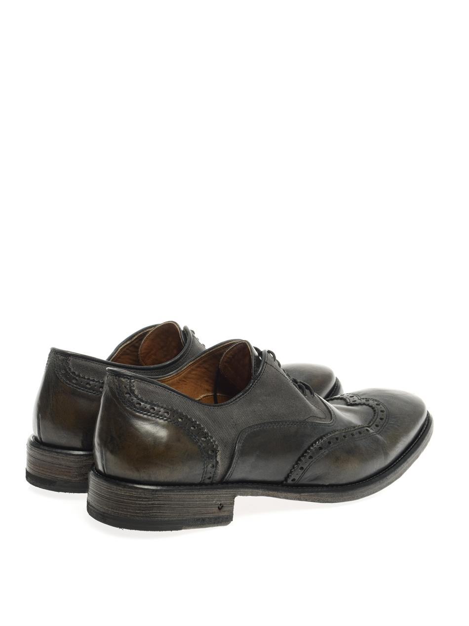 John Varvatos Fleetwood Leather Oxford Shoes In Black For