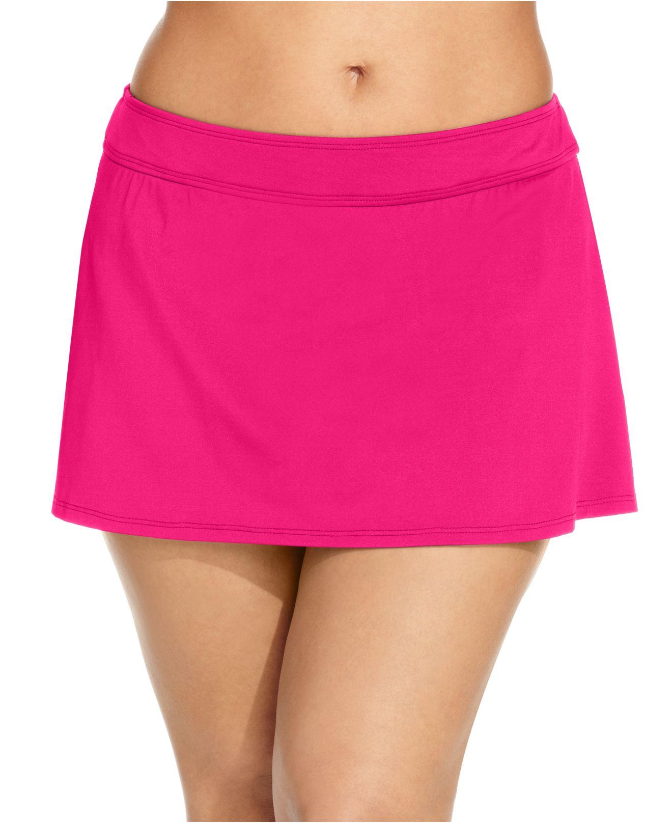 72a71aa5680f4 Lyst - Anne Cole Plus Size Swim Skirt in Purple