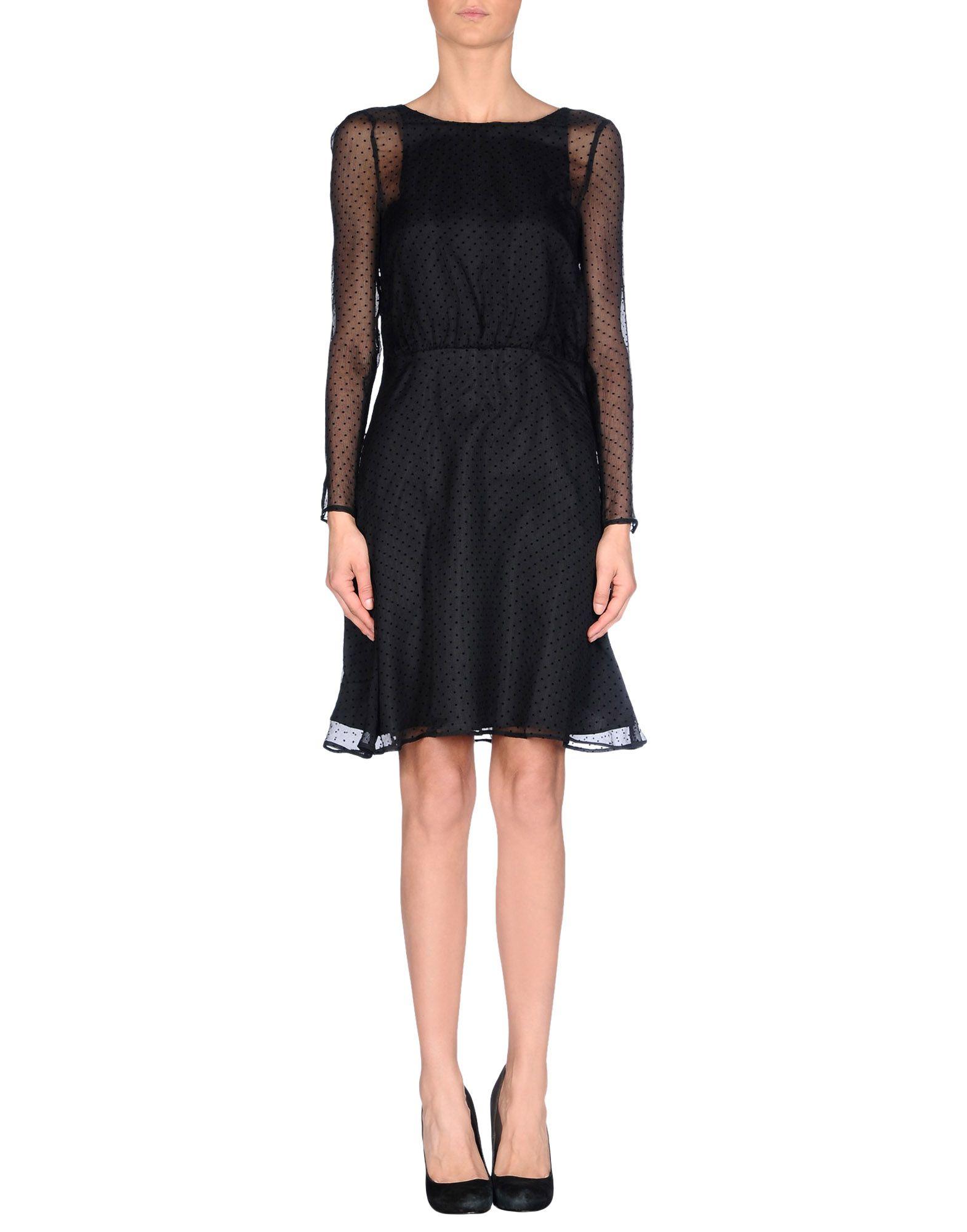 karl lagerfeld short dress in black. Black Bedroom Furniture Sets. Home Design Ideas