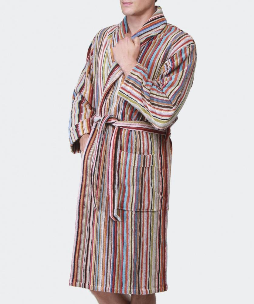 6f866570db89 Paul Smith Striped Bathrobe for Men - Lyst