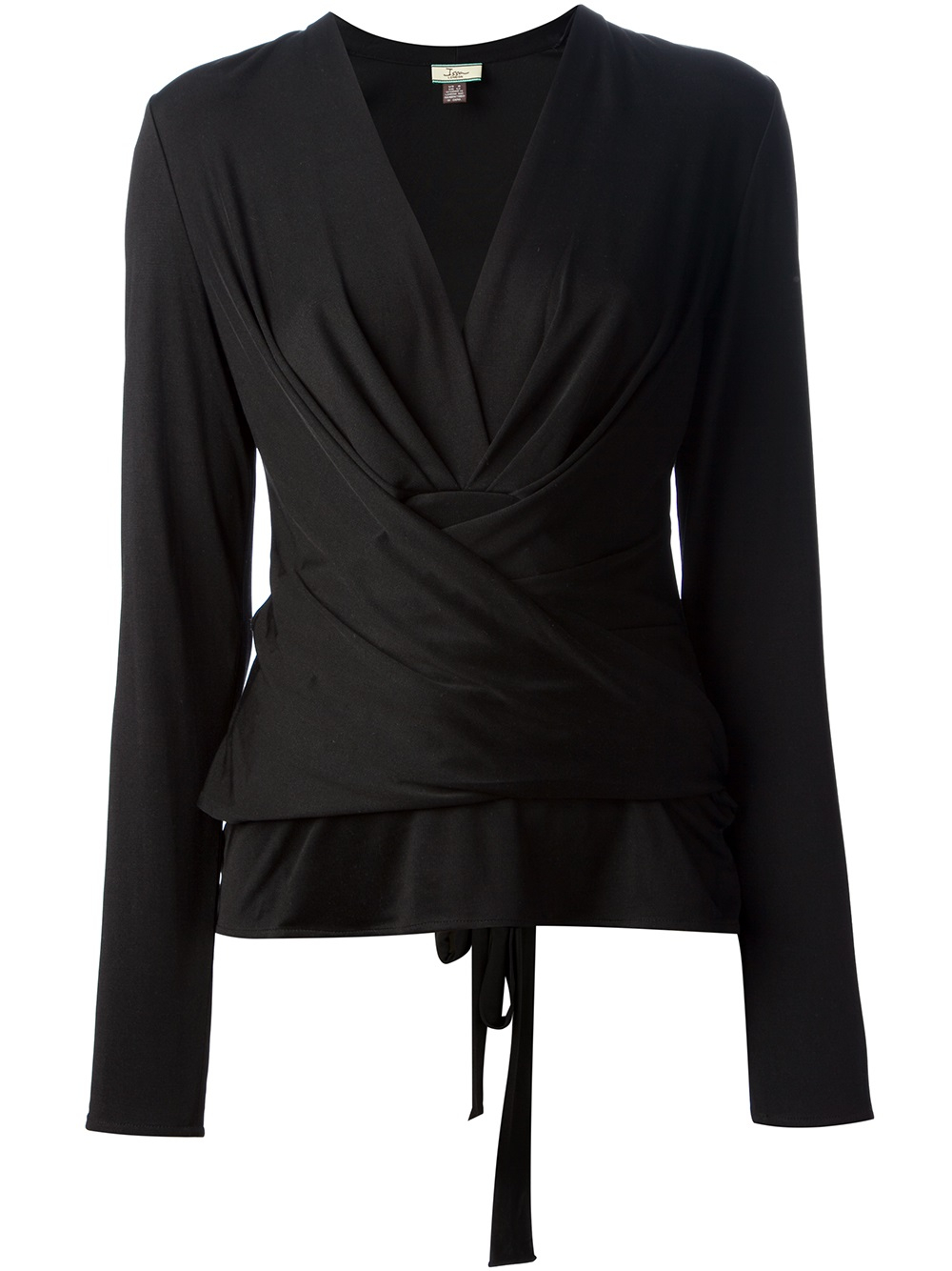 Issa Wrap Cardigan in Black | Lyst