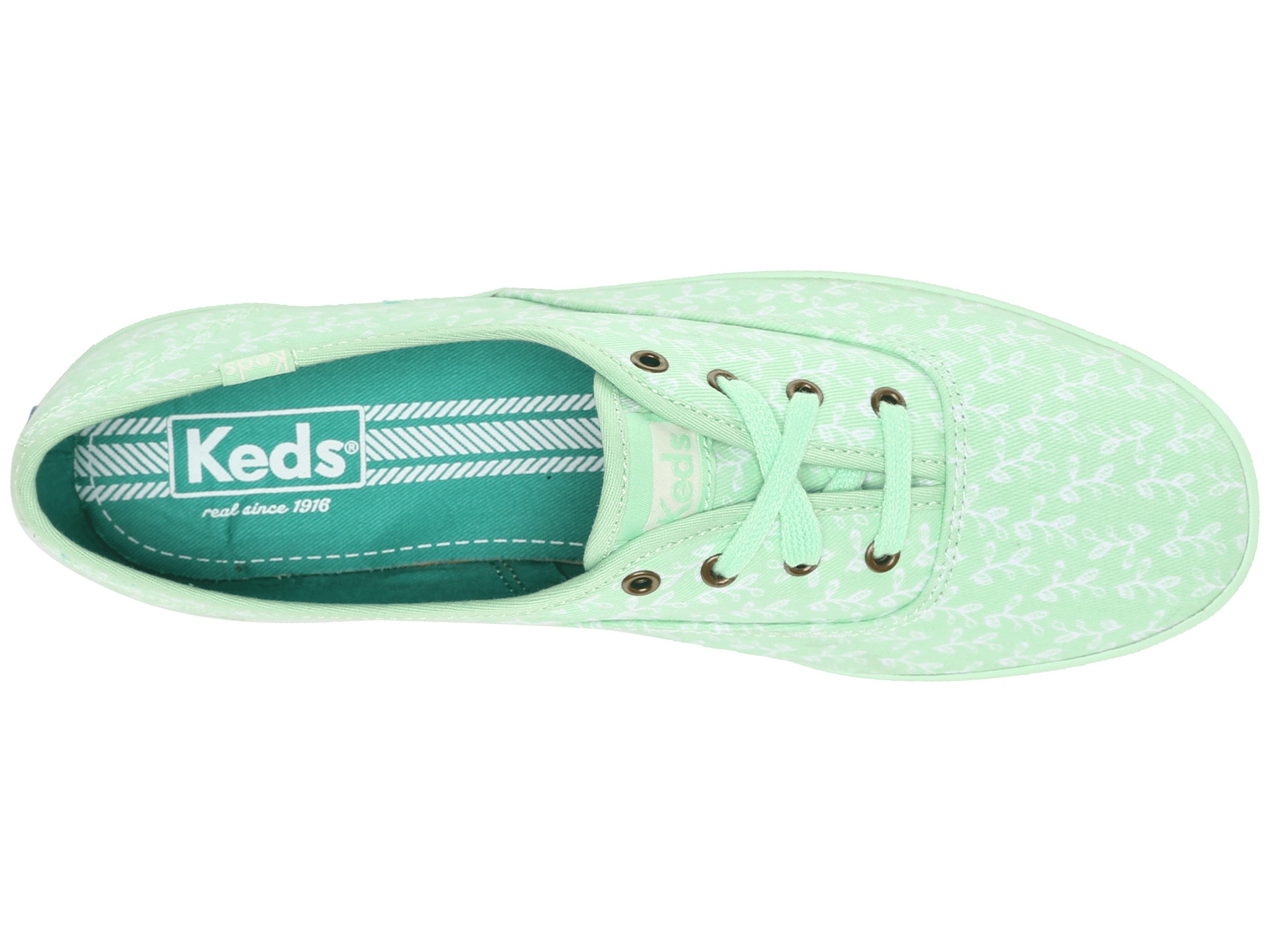5014fd08fd089 Lyst - Keds Champion Botanical Leaves in Green