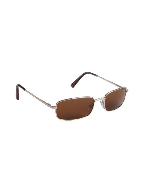 5f25787967 Cole Haan Gold Metal Small Rectangular Sunglasses in Metallic for ...