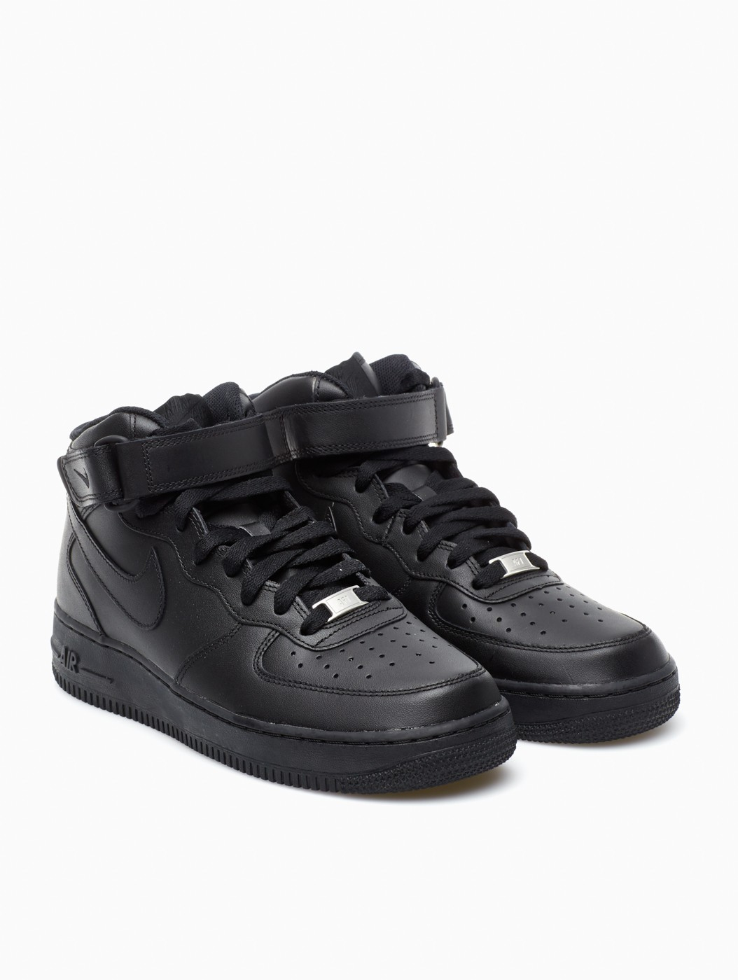 nike air force 1 mid 39 07 in black for men lyst. Black Bedroom Furniture Sets. Home Design Ideas