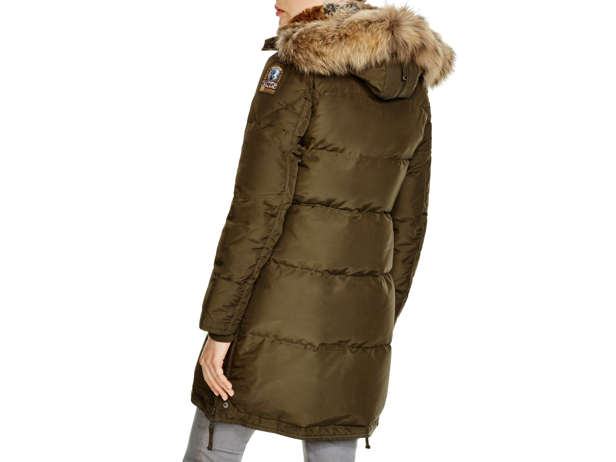 ... lyst parajumpers long bear coat in green