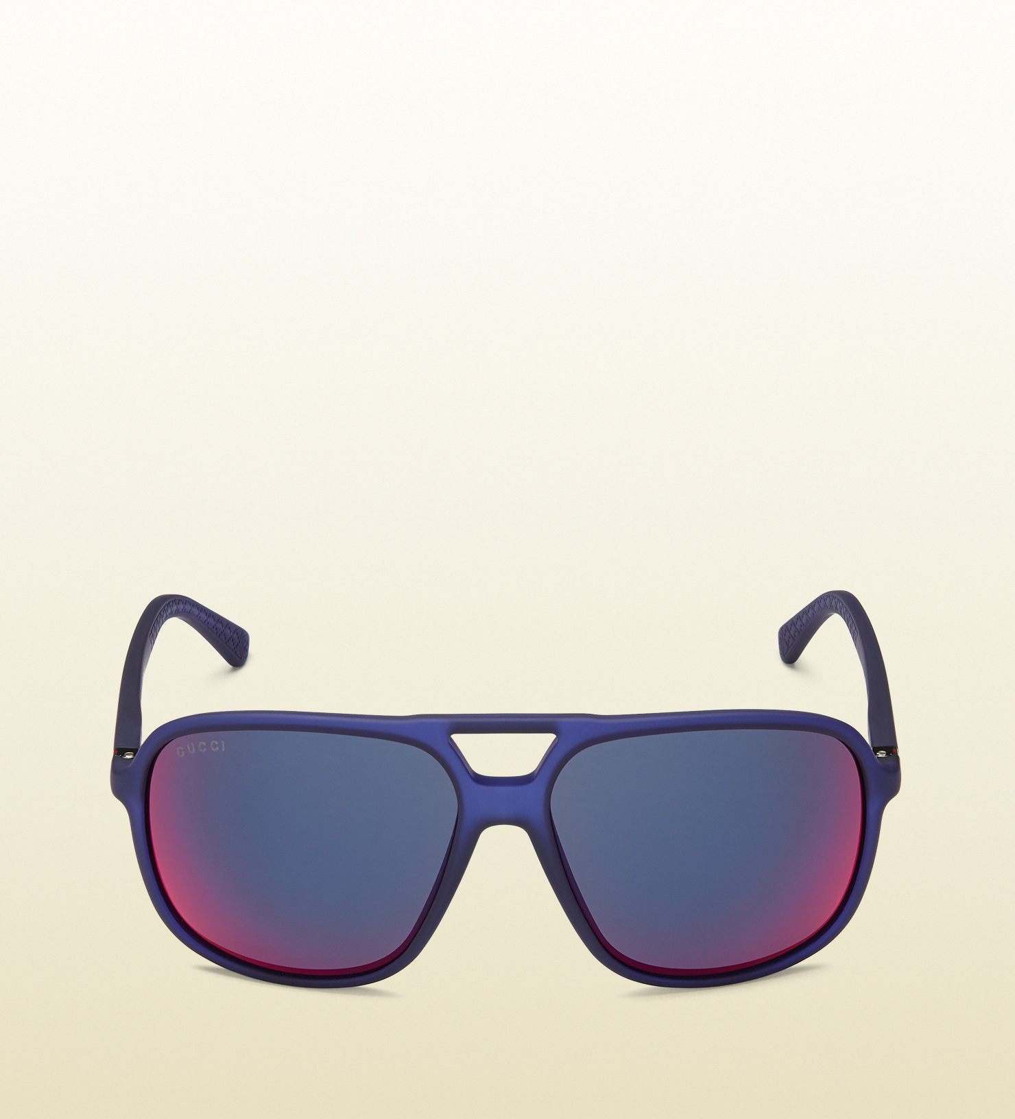 bc7432459a6a Lyst - Gucci Injected Aviator Sunglasses in Blue for Men