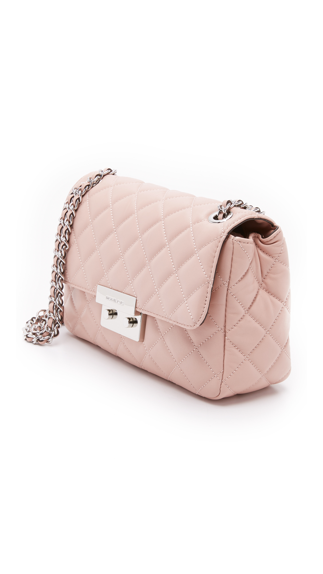 f78fc620837f ... uk michael michael kors sloan large chain shoulder bag ballet in pink  9e53c f29aa