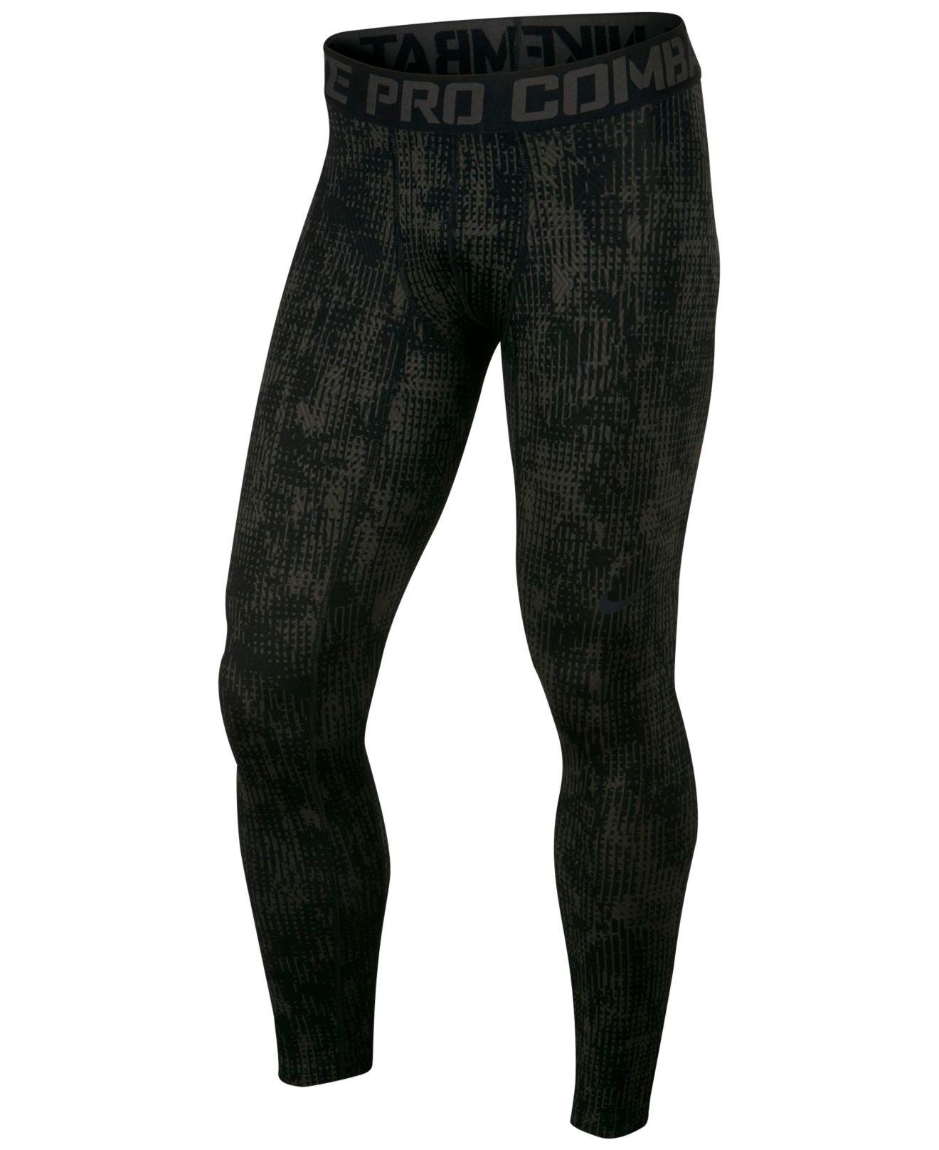 wholesale dealer d6a5f b4f9e Lyst - Nike Mens Pro Hyperwarm Dri-fit Compression Print Leg