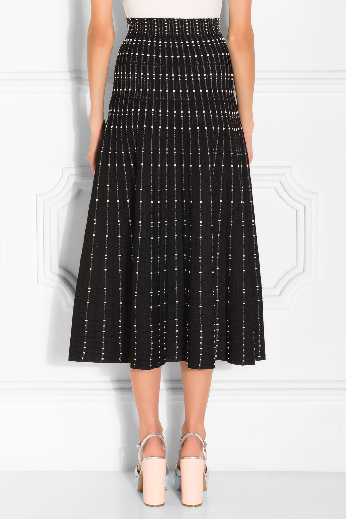 mcqueen maxi knitted skirt in multicolor lyst